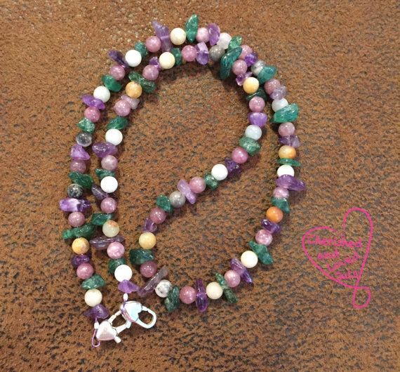 Anxiety BeJuled Chain by CherishedAdoredLoved on Etsy