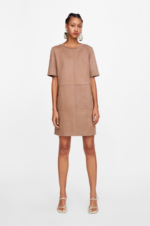 faux suede dress - view all-dresses-woman-sale | zara united
