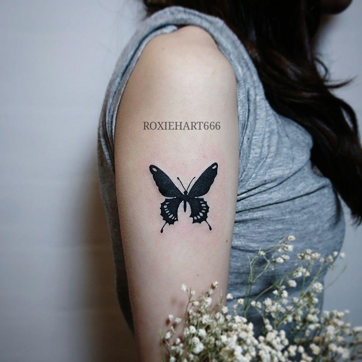 Black butterfly Tattoos, Black butterfly, Paw print tattoo