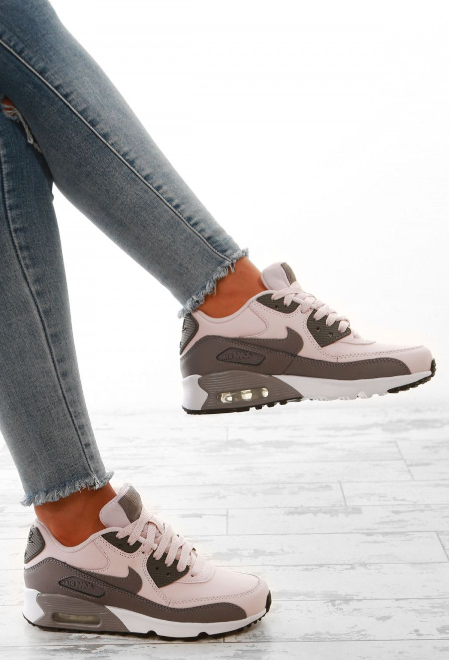 Nike Air Max 90 Grey and Rose Trainers | 2018 Spring