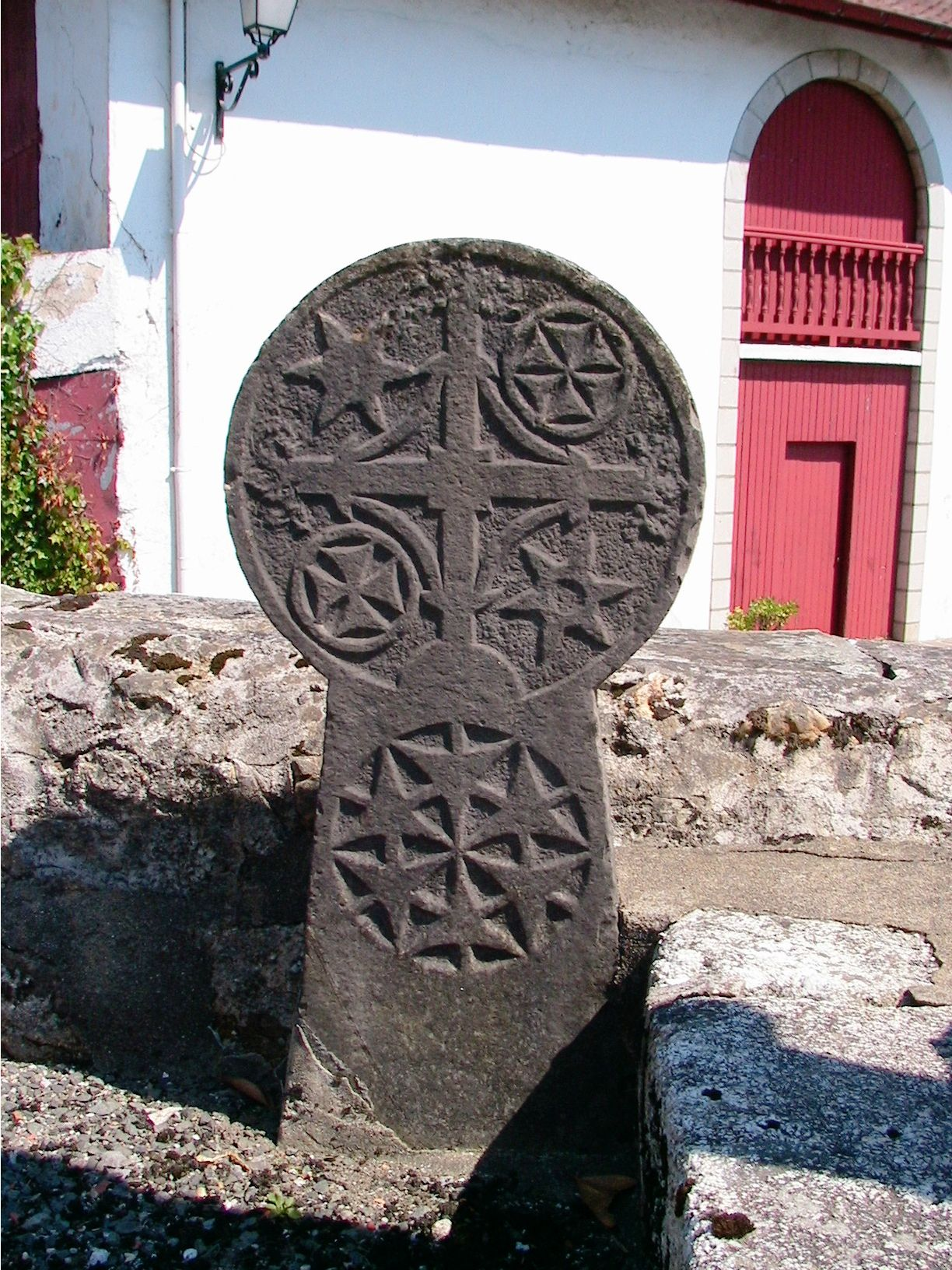 Another hilarri from louhossoa french basque country it for Basque cross tattoos