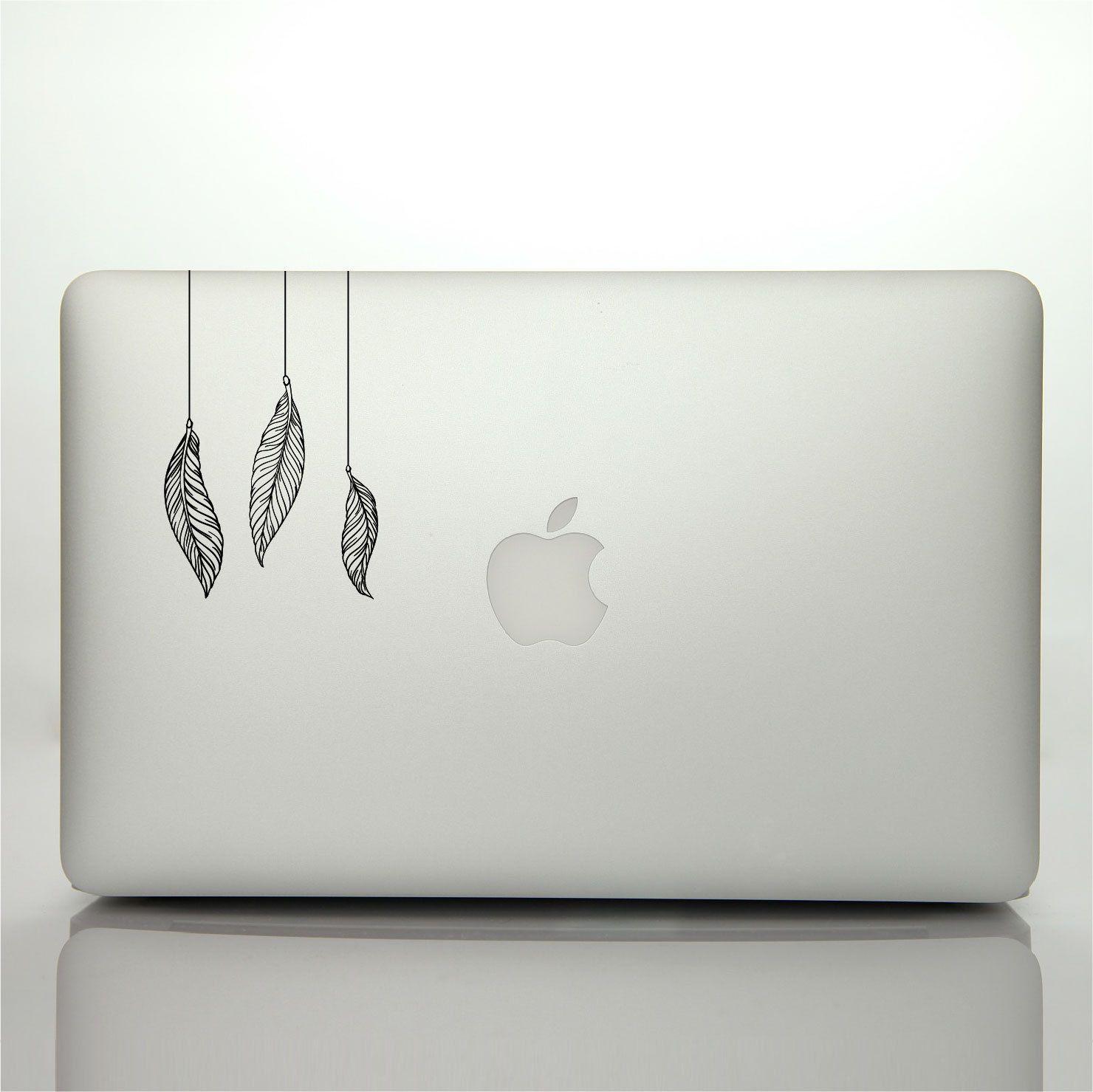 Laptop Sticker Feathers MacBook Decal Dream Catcher Bird Feather ...