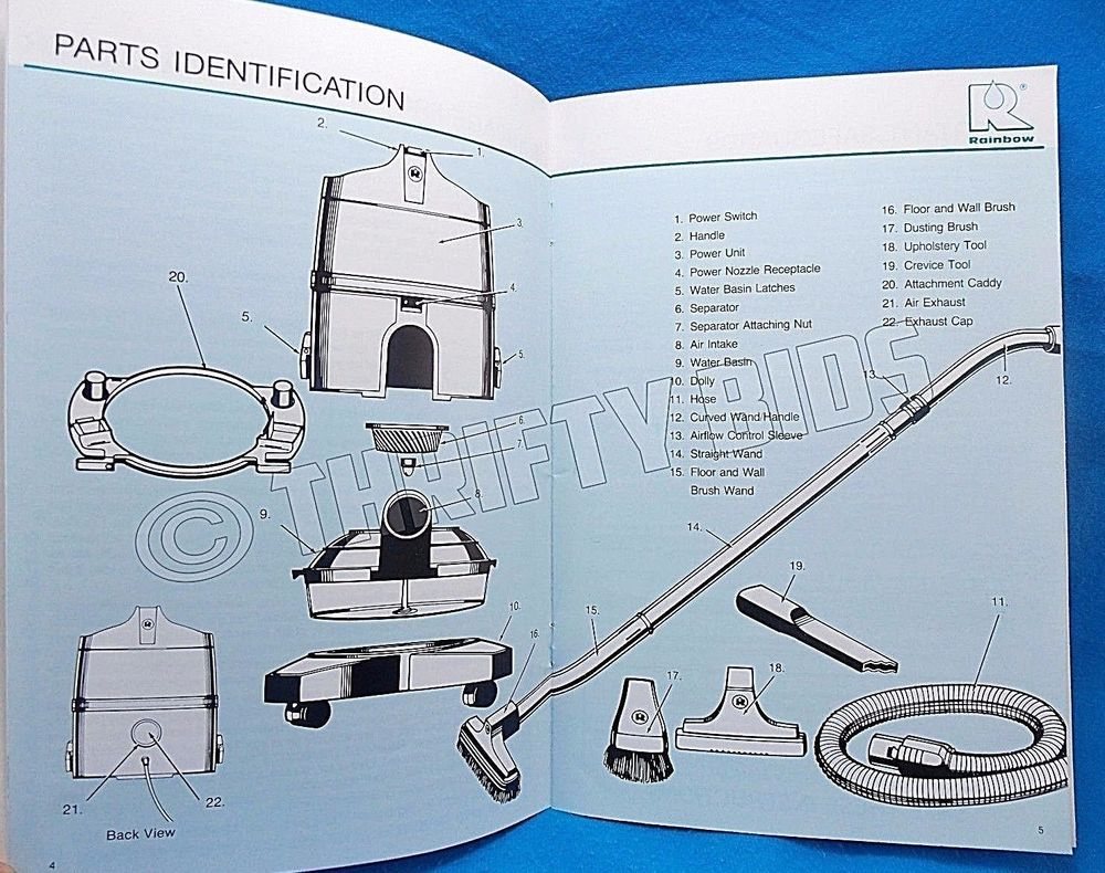 instruction owners manual for rainbow cleaning system canister vacuum e  series #rexairrainbow | rainbow vacuum, vacuums, canister vacuum  pinterest