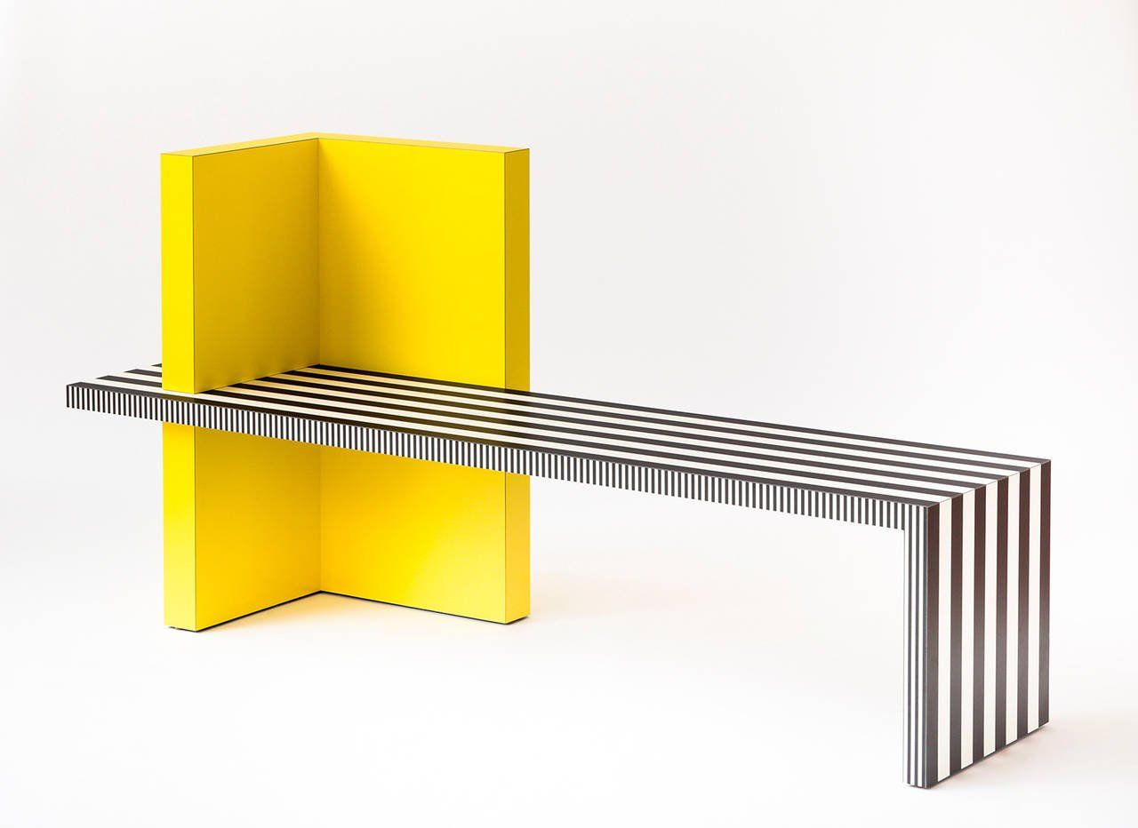 Memphis Inspired Bench, Neo Laminati Collection | House plans ...