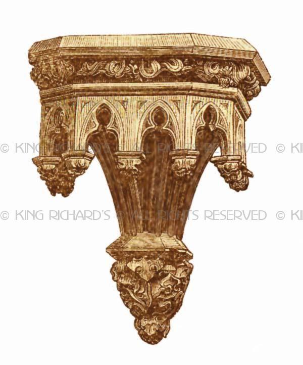 Statue Pedestals Brackets Wall Mount New Wood Or