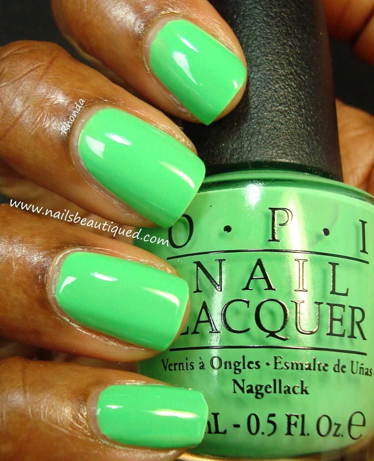 You Are So Outta Lime OPI Neon Nail Lacquers & White Base