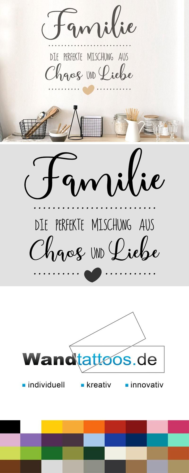 Photo of Wall Decal Family | The perfect mix Wandtattoos.de
