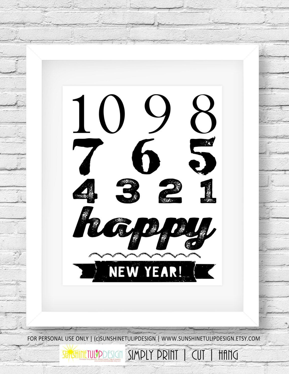 Printable New Years Party Art, New Years Eve Print, New ...