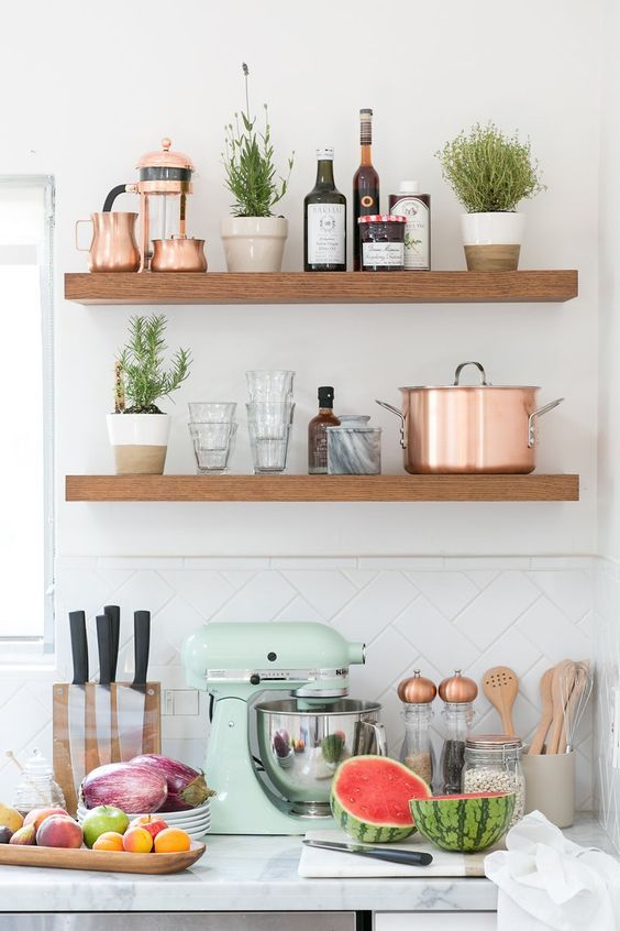 Mint And Copper Kitchen Inspiration Image Source Crate And Barrel