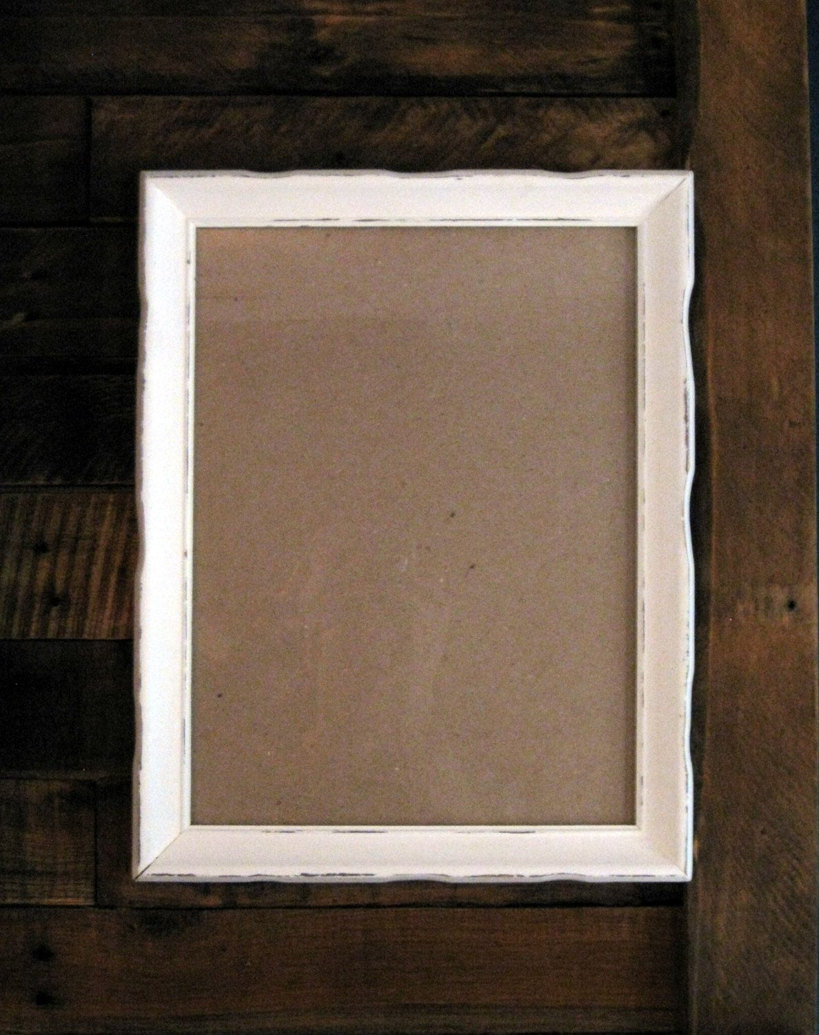 Shabby Chic Frame 12 X 16 White Frame Hand Painted Wood Frame 12 X 16 Picture Frame With Glass Cust Shabby Chic Frames Hand Painted Wood White Frame