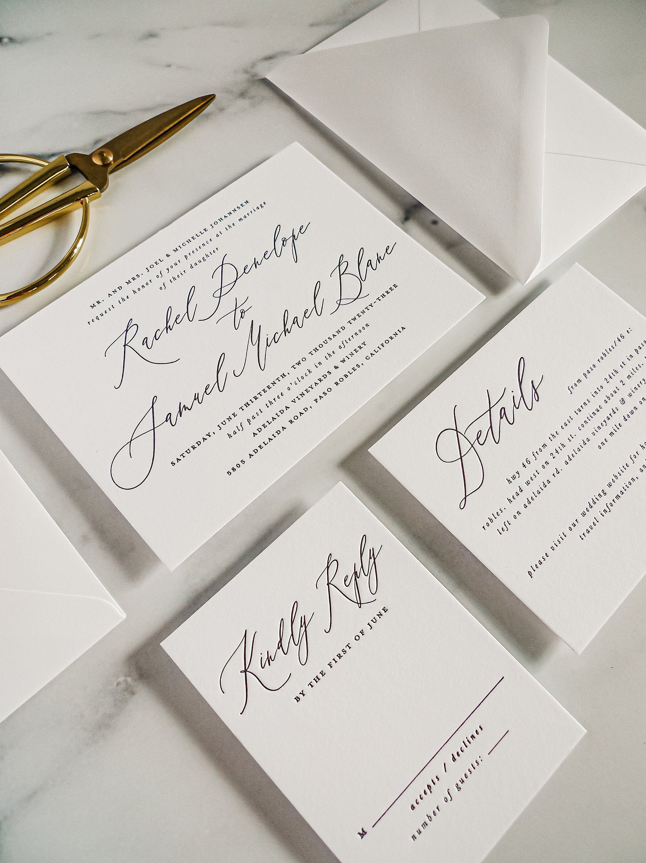 Printed Wedding Invitations Printed Letterpress Romantic Etsy Letterpress Wedding Invitations Printing Wedding Invitations Printable Wedding Invitations Vintage