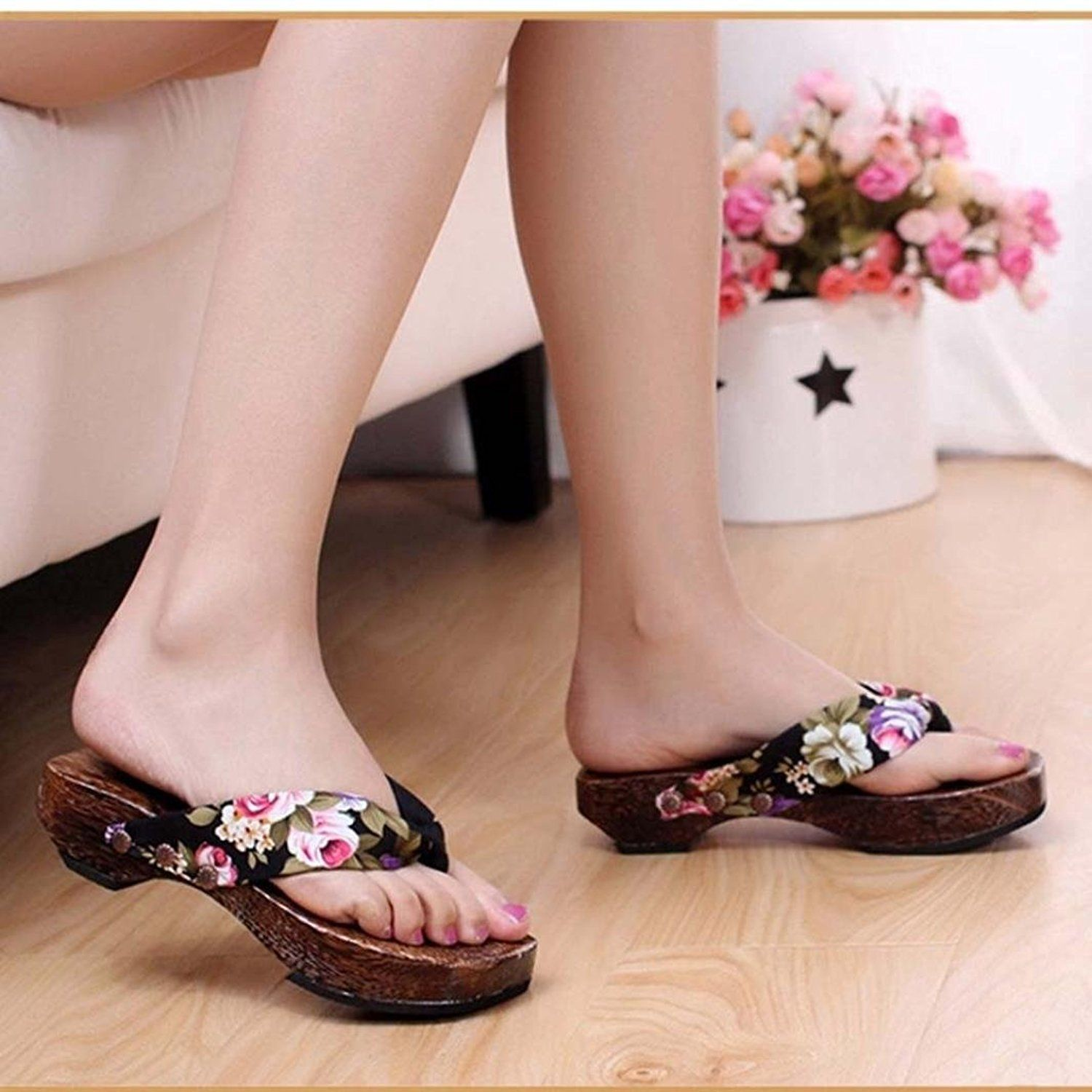 5aad6edae249a Sikye Summer Sexy Flip Flops Women Bohemian High Platform Summer Wedge  Thong Slippers Women -- You can get additional details at the image link.