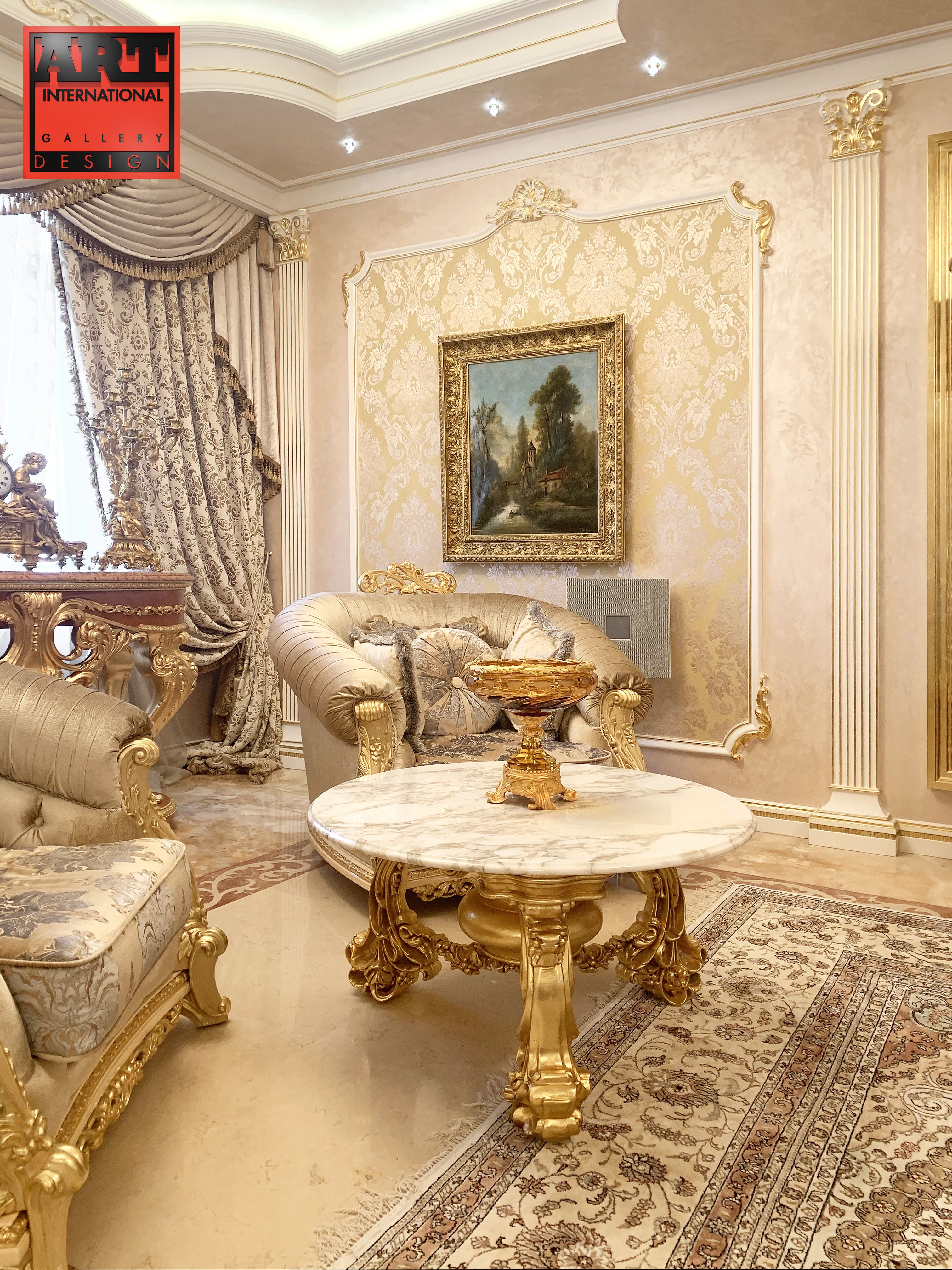 Design Royal Living Room With Exclusive Furniture Luxury Interior Design Living Room Classic Interior Design Living Room Sitting Room Interior Design