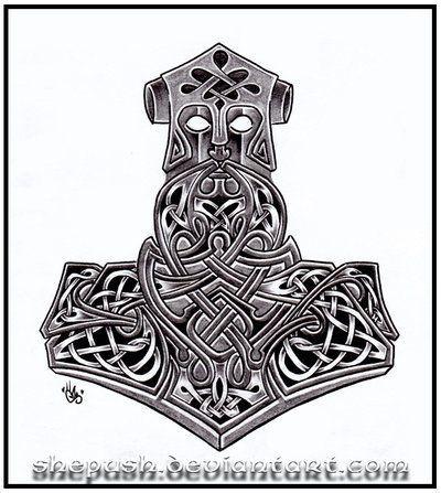 Thors Hammer Viking Deviant Art Google Search Tatouage