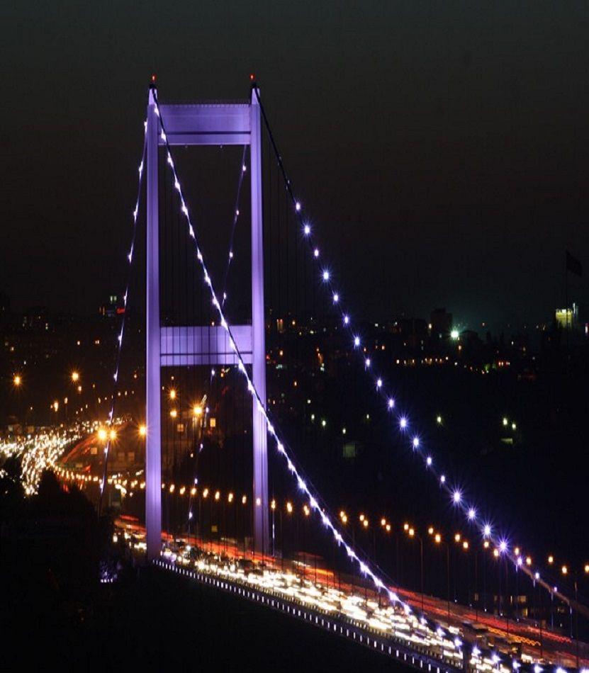 ✿ ❤ İstanbul, F.Sultan Mehmet bridge at night