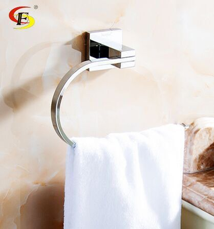 Bathroom Accessory Hotel Use Towel Ring Square Towel Holder Icon2 Luxury Designer Fixures Bathroom Ac Bathroom Accessories Towel Holder Luxury Home Decor