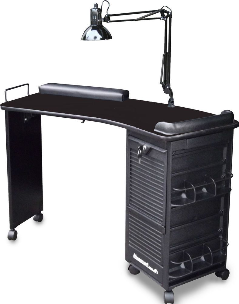 incredible Black Nail Table Part - 10: MANICURE NAIL TABLE STATION DESK M600 BLK TOP LOCKABLE BY DINA MERI MADE IN  USA #dinameri from ebay $299.71 this is SO COOL