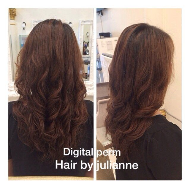 Digital Perm Before After Google Search Digital Perm Permed Hairstyles Hair Styles