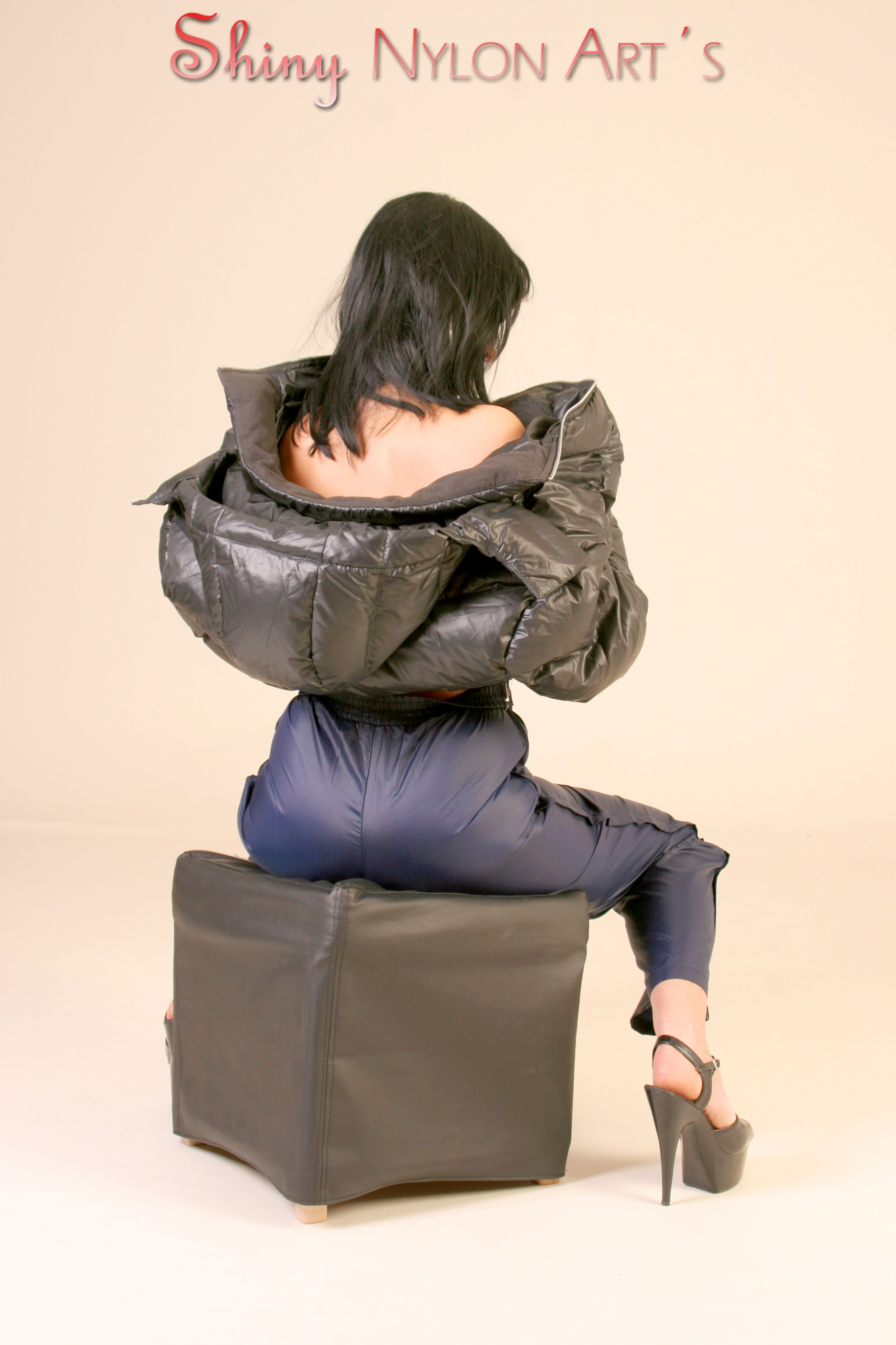6a4377a416e Shiny-Nylon-Shorts-Rainwear-Downwear