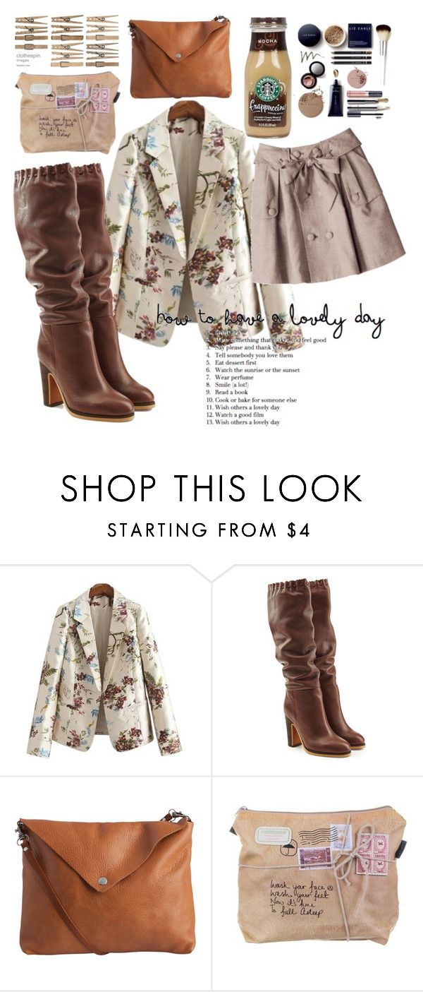"""""""Tall Brown Boots"""" by voluptuoustwiggy ❤ liked on Polyvore featuring See by Chloé and Pieces"""