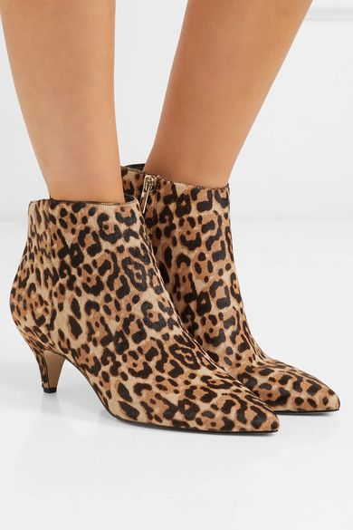 14eac1d11 Sam Edelman - Kinzey leopard-print calf hair ankle boots