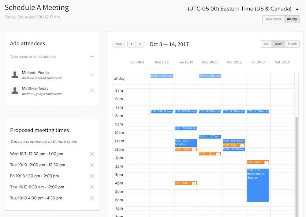 Timebridge Schedule Meeting App