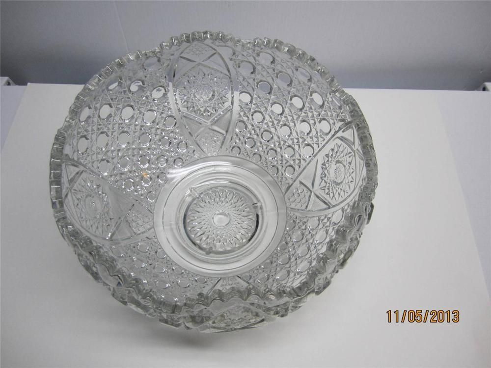 Rare Vintage L E Smith Daisy Amp Button Thick Pressed Glass