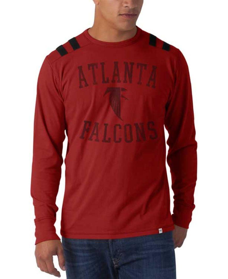 '47 Brand Men's Long-Sleeve Atlanta Falcons Bruiser T-Shirt
