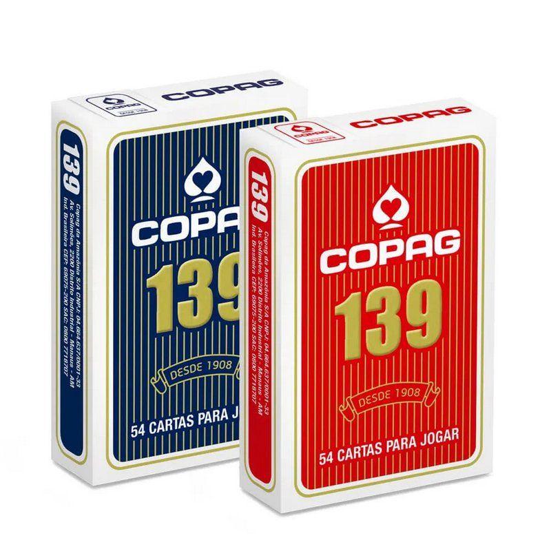 Baralho Copag 139 Vermelho E Azul Naipe Convencional Jogos Jogo De Baralho Baralho