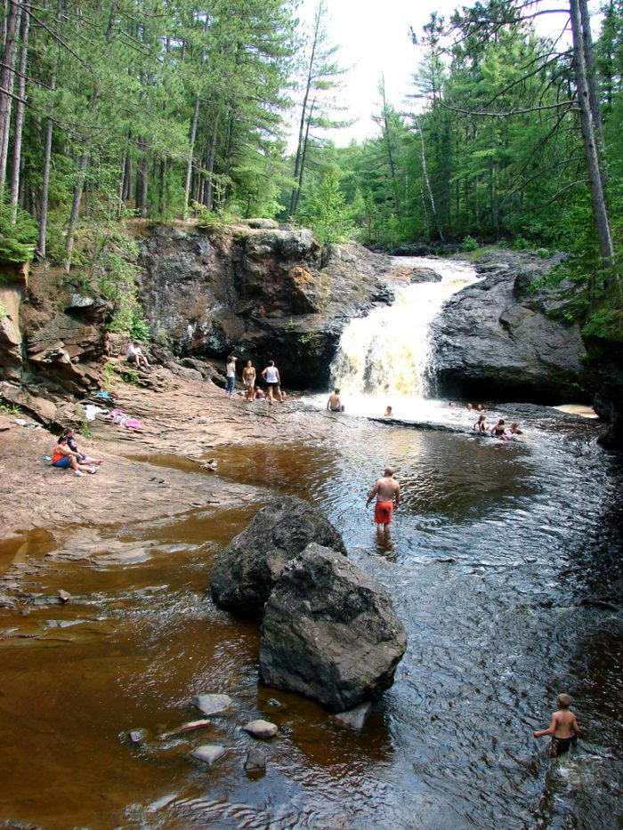 These 3 waterfall swimming holes in wisconsin are perfect - Swimming pools in great falls montana ...