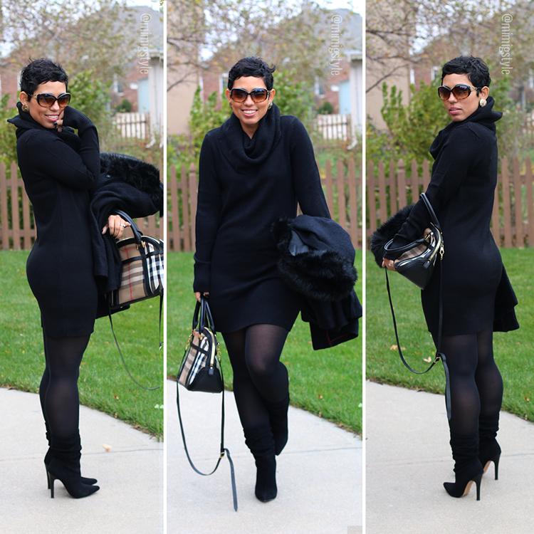 BootsMimi G Style Diy Looks Sweater DressSlouchy Black mY6yb7vIfg
