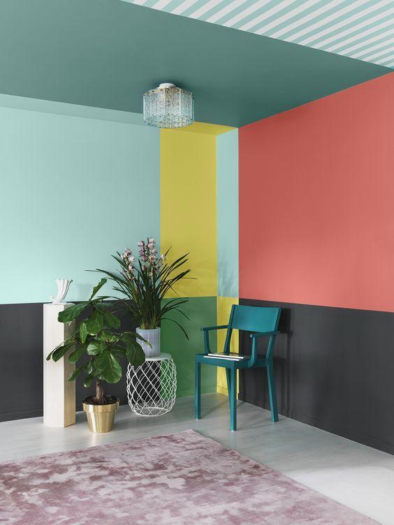 Peinture Mur De Couleur Flashy Et Plafond Couleur