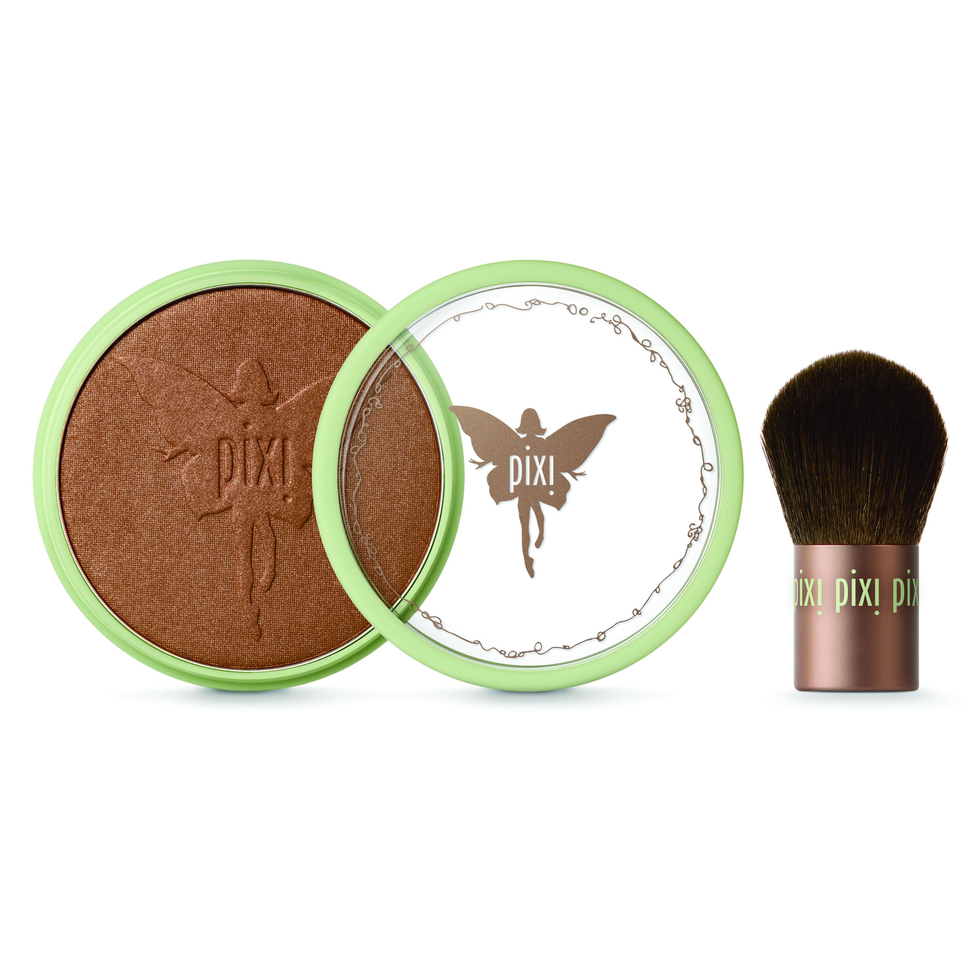 Beauty Bronzer + Kabuki, $21. This deluxe bronzing powder gives your complexion the warmth and luminosity of naturally sun kissed skin and comes in three long-wearing shades.