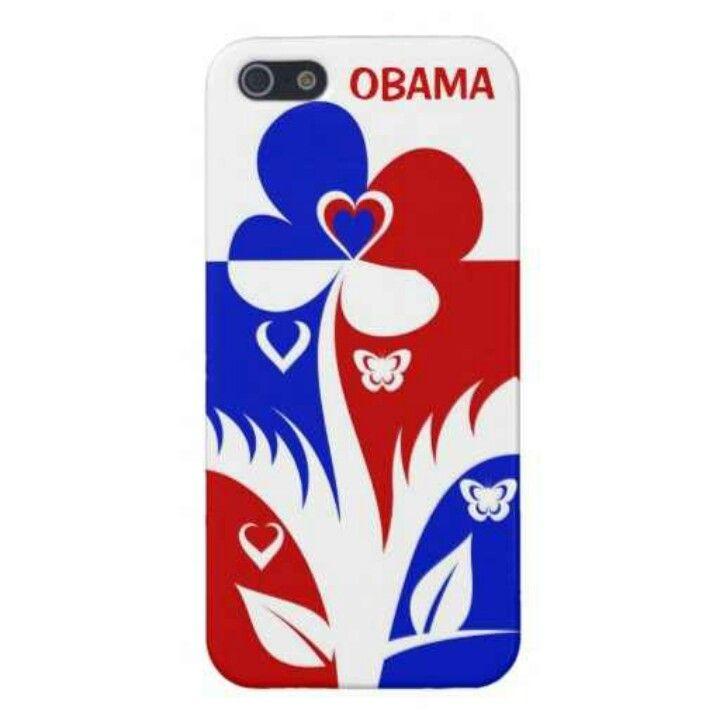 Obama floral red white & blue designer Iphone5 case