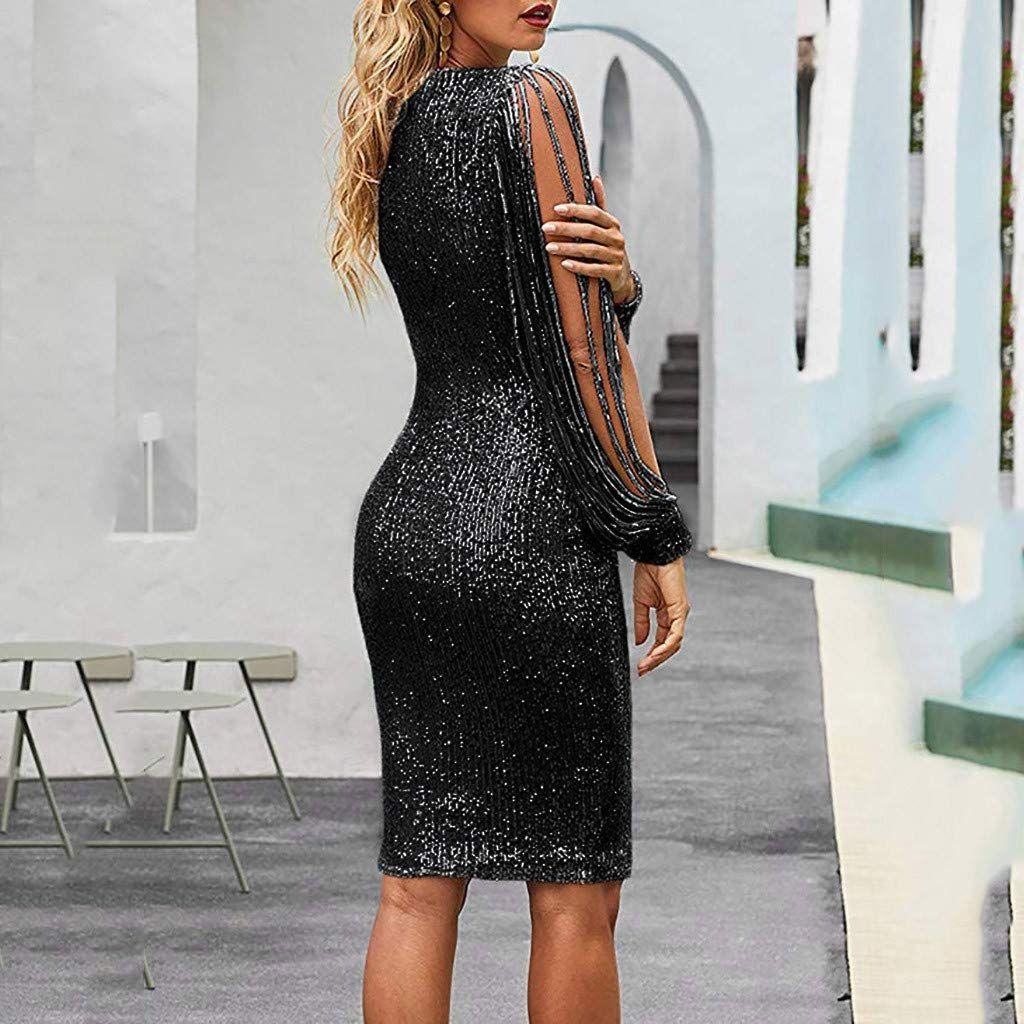 Women Lace O Neck Club Party Elegant Sheer Long Sleeve Autumn Dress Short Mini