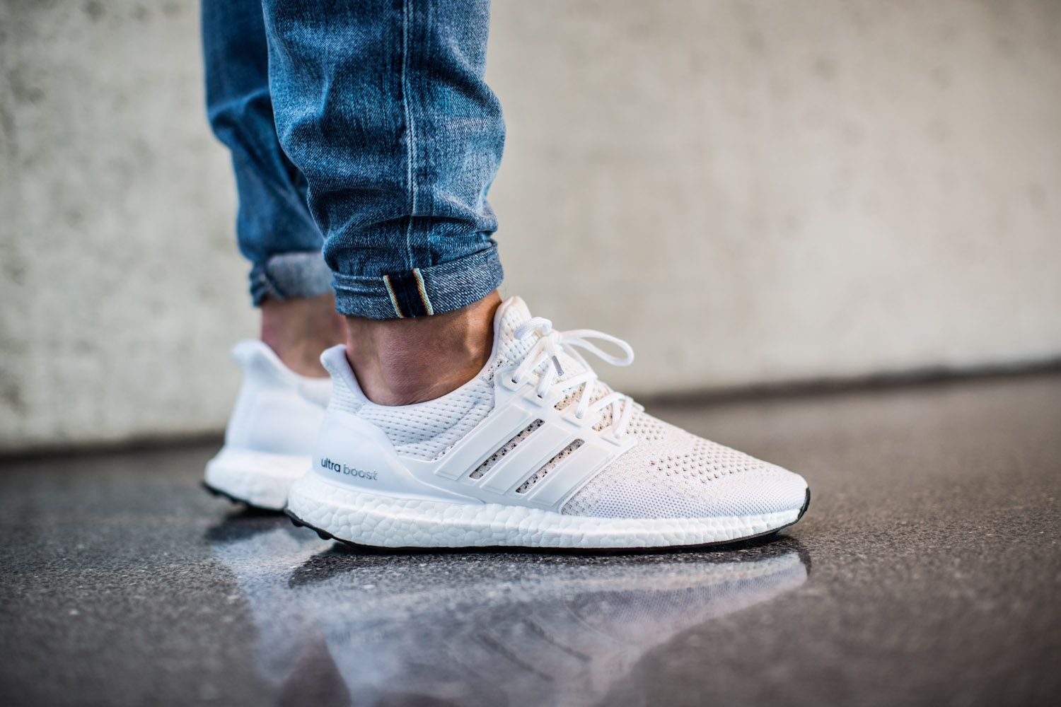 on sale 77c51 f7e58 White Adidas Ultra Boost On Feet | Adidas Ultra Boost ...