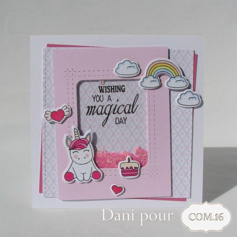 Un Ensemble Cadeau Licorne Carte Enfant Anniversaire
