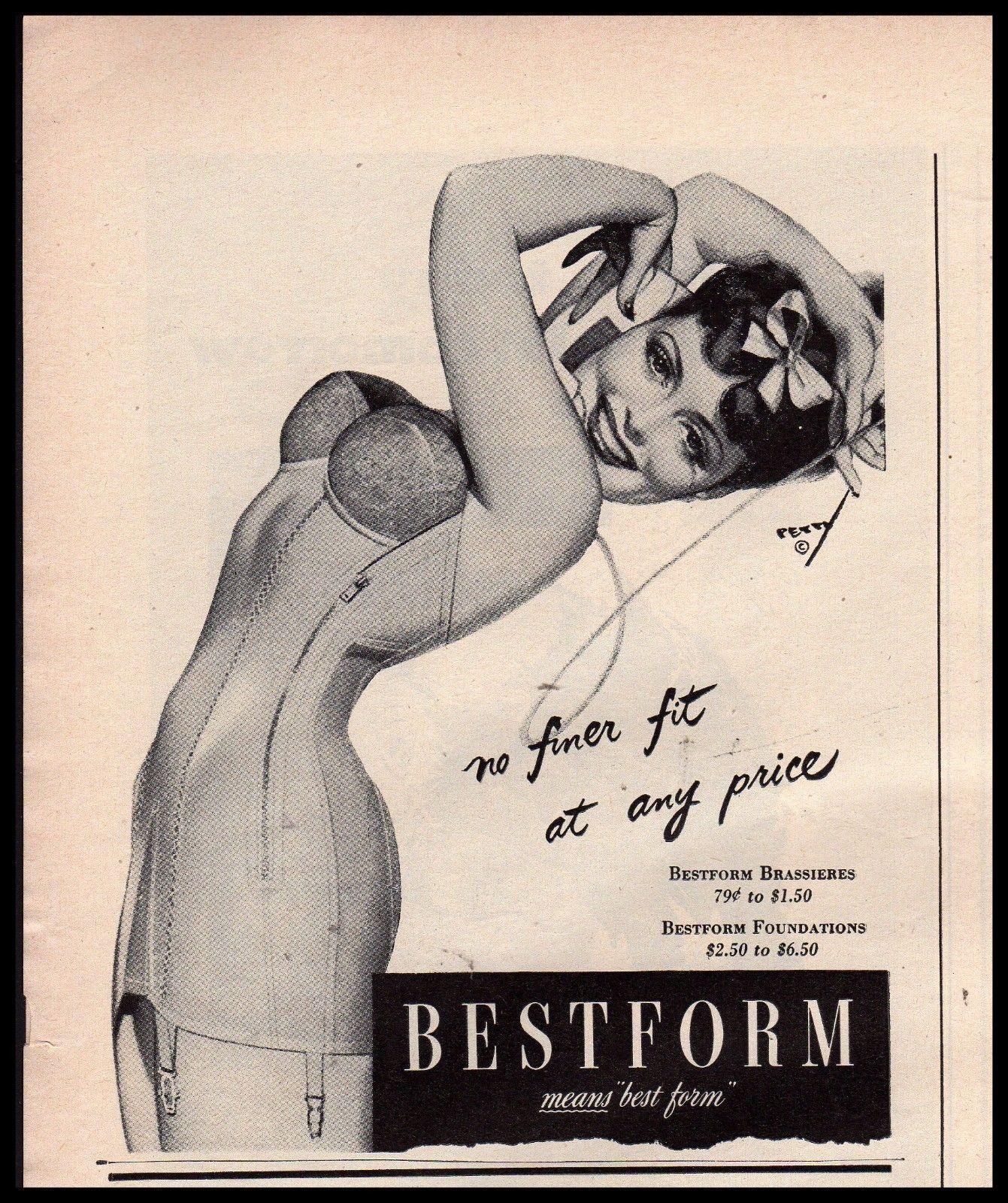 eb4dc79e25618 1944 GEORGE PETTY Pin Up Art Original Bestform Bra Corset Vintage Lingerie  AD | eBay