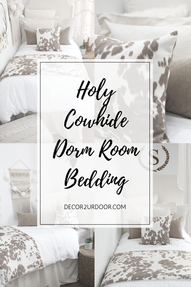 Holy Cowhide Dorm Room This Rustic Farmhouse Dorm Bedding Set