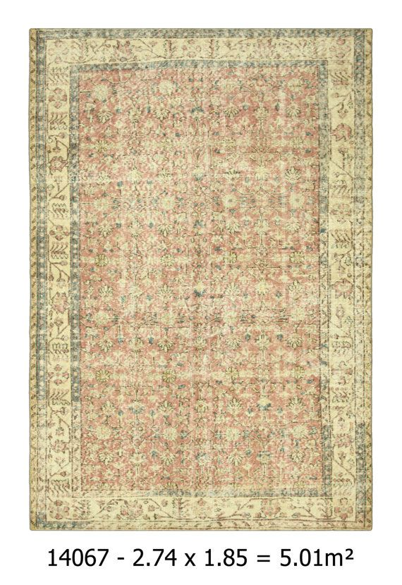 Overdyed Rug Free Shipping Area Old Carpet Handwoven Vintage