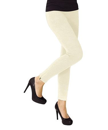 MeMoi Winter White Ankle-Zip Leggings | Love, Winter white and ...