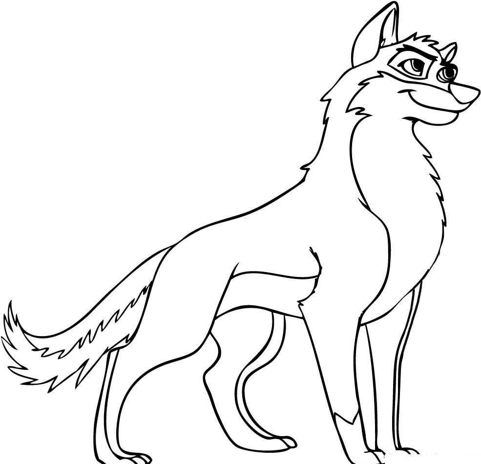 BALTO DA COLORARE Free Printable Wolf Coloring Pages For Kids