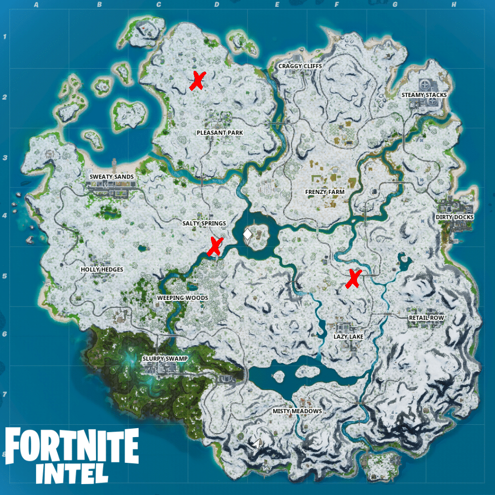 Fortnite food truck locations for Remedy vs. Toxin ...