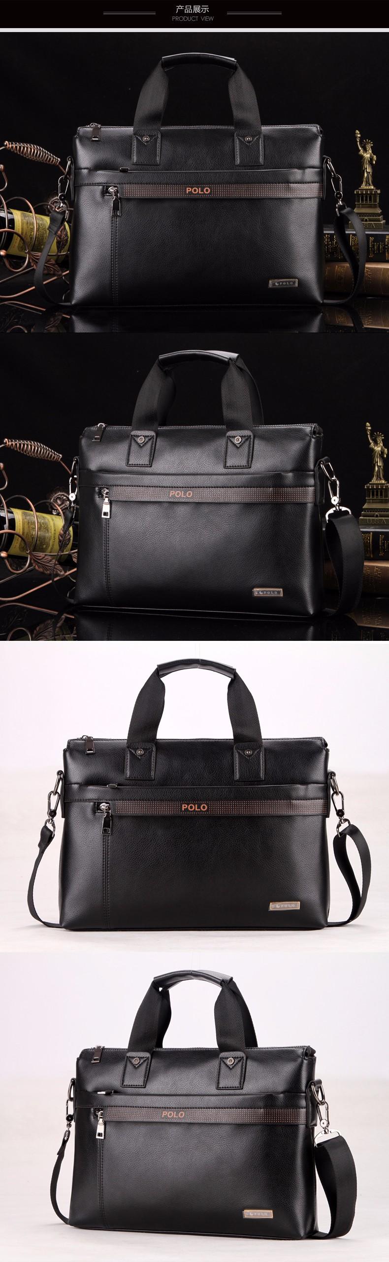 Fashion Brand PU Leather Men s Handbags Designer Man Zipper Handbag Dress Messenger  Bag for Men Brown Black Color XB114NEW-in Crossbody Bags from Luggage ... 401b77e793325