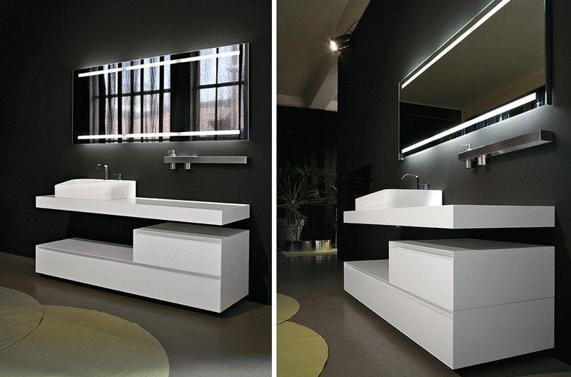 Badspiegel mit Beleuchtung im Badezimmer inszenieren 50