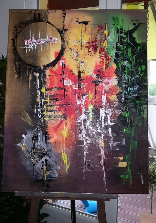 Acrylique Abstrait 'fusion' Peintures Par Bea-l