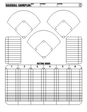 Free download little league baseball game plan softball for Pitching chart template