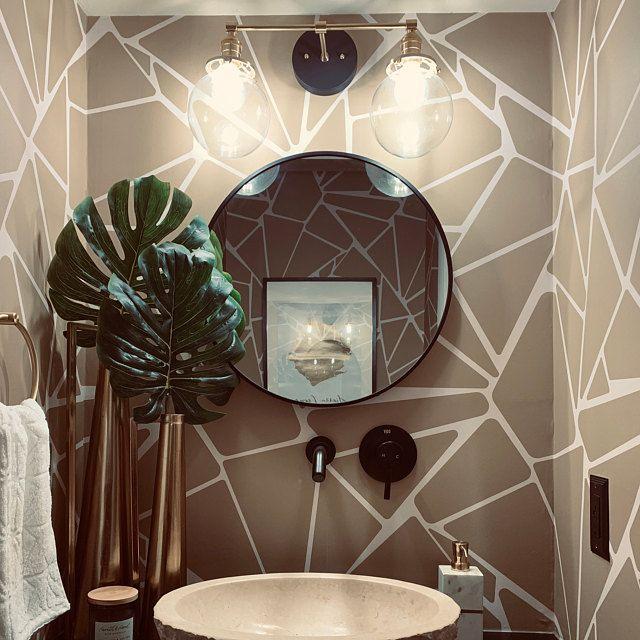 Black Vanity - Light Fixture - Bathroom Vanity - Black ...