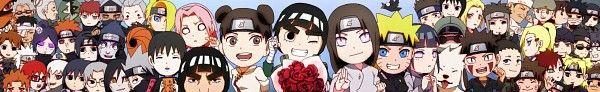 Naruto characters, Rock Lee, Tenten, Neji; Rock Lee and his Ninja Pals