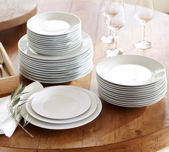 Pottery Barn Caterer S 12 Piece Dinnerware Set 196 Dinner Salad Etizer Cereal No Cup Saucer Or Soup Available